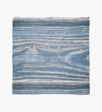 Rustic weathered wood in blue Scarf