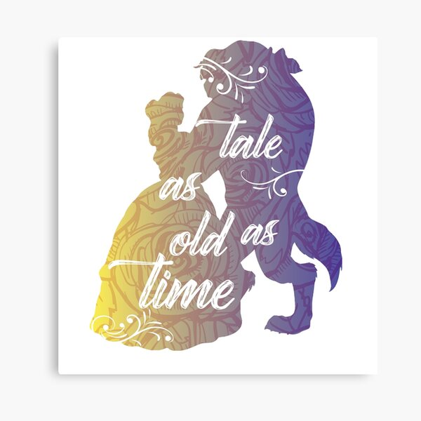 Beauty and The Beast- Tale as old as time Canvas Print