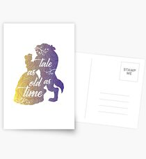 Beauty and The Beast- Tale as old as time Postcards