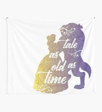 Beauty and The Beast- Tale as old as time Wall Tapestry