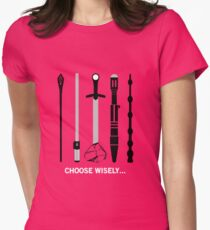 Choose your team wisely ! Womens Fitted T-Shirt