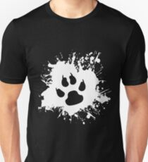 Paw Splat: White Unisex T-Shirt