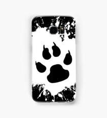 Paw Splat: White Samsung Galaxy Case/Skin