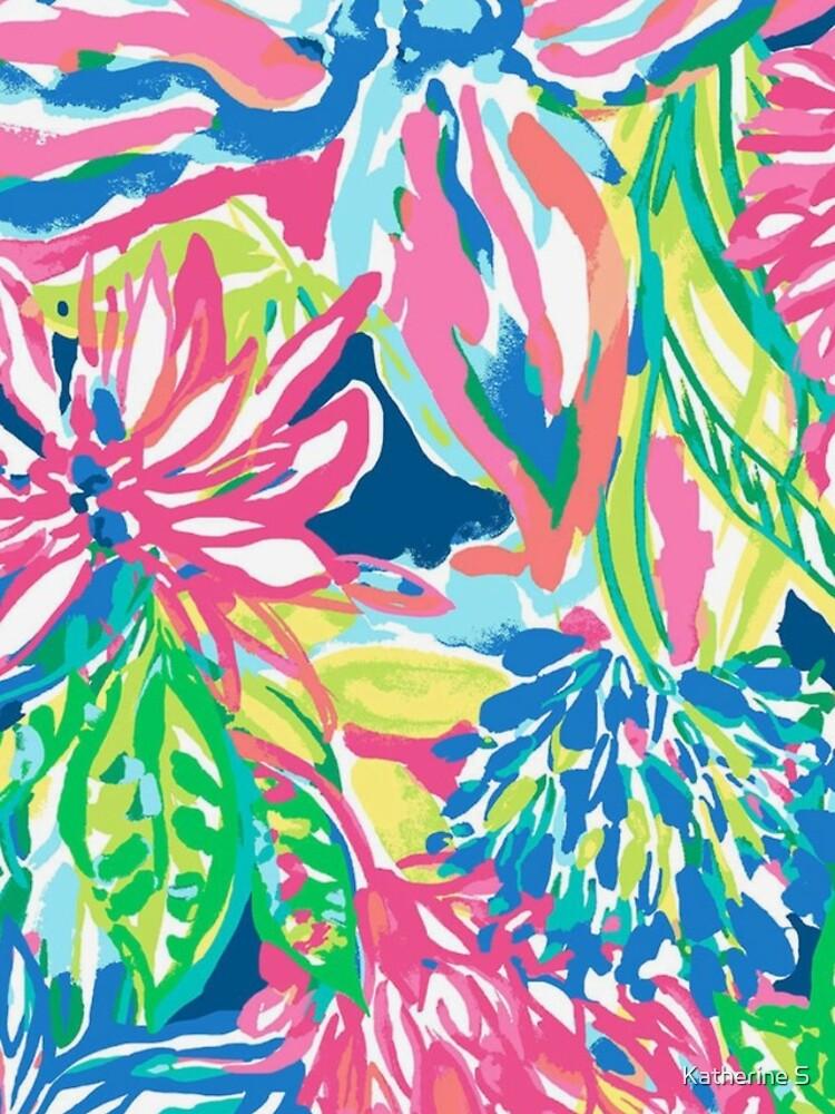 Vibrant Floral Multicolor Print by katherineshek