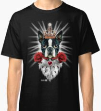 Boston Terrier King Prince Queen Royal Crown Dog Dogs Classic T-Shirt