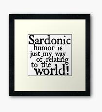 "RIVERDALE - ""Sardonic Humor"" Framed Print"
