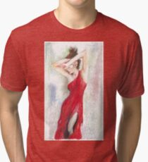 Oil Pastel on Canvas Tri-blend T-Shirt