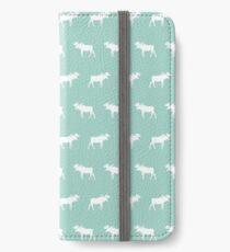 Vinilo o funda para iPhone Moose mint minimal nursery baby art pattern diseño neutral neutral home decor