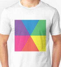 6 color circle spectrum T-Shirt