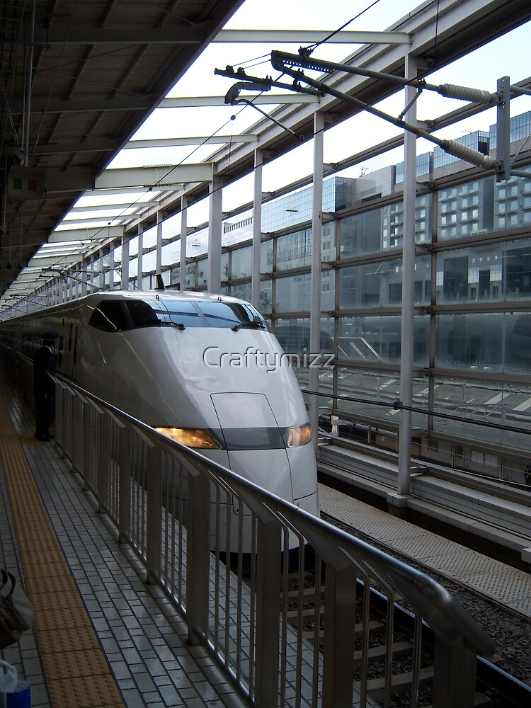 Japans Bullet Train at Kyoto Station by Craftymizz