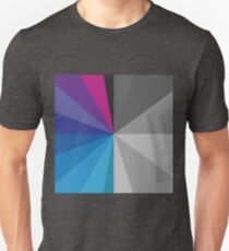 white and color circle spectrum Unisex T-Shirt