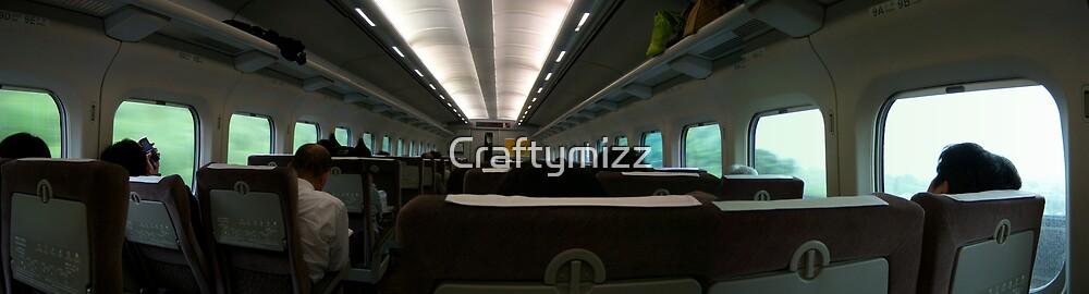On the Bullet Train - Japan Shinkansen by Craftymizz