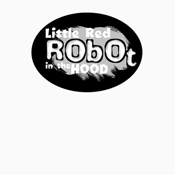Little Red Robot Logo Tee (GREY) by quigonjim