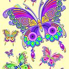 Butterfly Colorful Tattoo Style Pattern by BluedarkArt