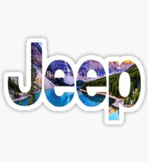 Jeep Scenery Logo Sticker