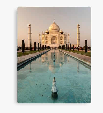 Taj Mahal Reflection India Canvas Print