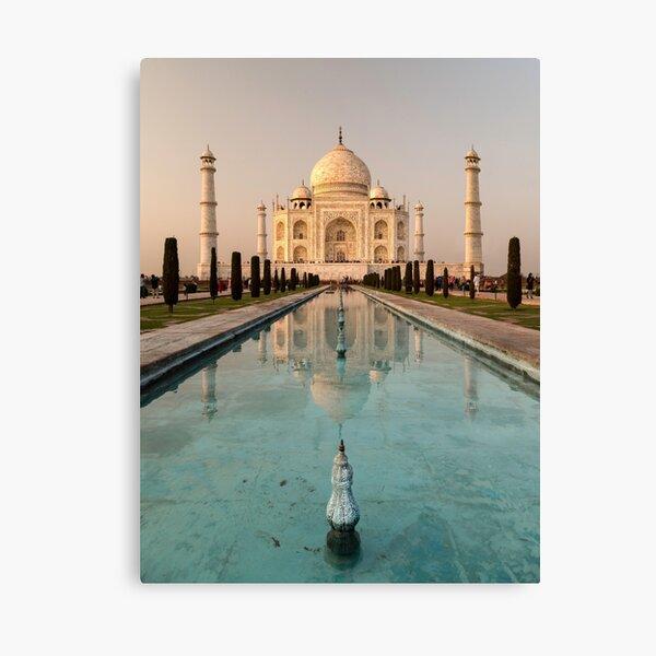 Taj Mahal Reflection India Canvas Print