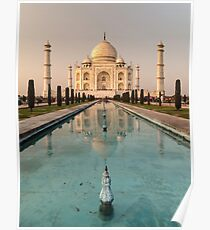 Taj Mahal Reflection India Poster