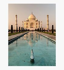 Taj Mahal Reflection India Photographic Print