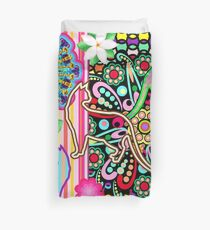 Mandalas, Cats & Flowers Fantasy Pattern  Duvet Cover