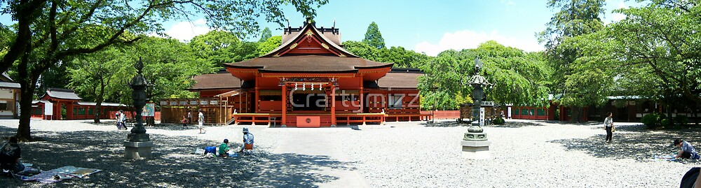 Red Temple at Fujinomiya, Japan by Craftymizz