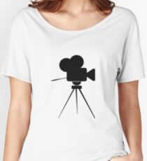 Vintage Movie Camera Icon Women's Relaxed Fit T-Shirt