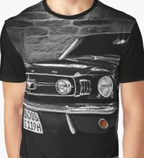 ford mustang cabriolet, black and white Graphic T-Shirt