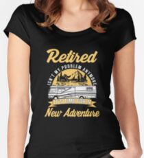 Retired Isn't My Problem Anymore Women's Fitted Scoop T-Shirt