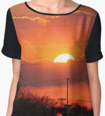 Light up the sky Women's Chiffon Top