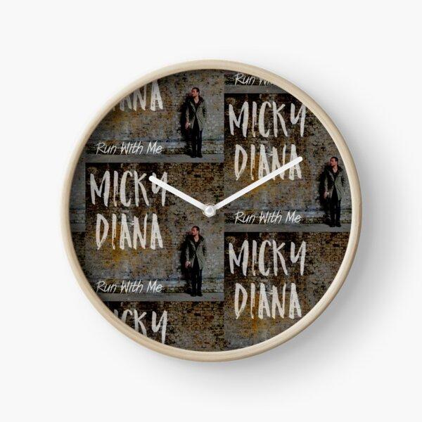 Micky Diana 'Run With Me' artwork Clock