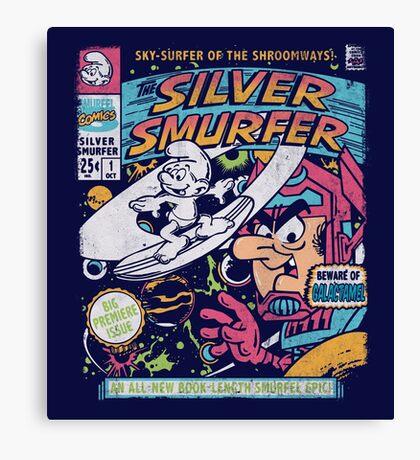 Silver Smurfer Canvas Print