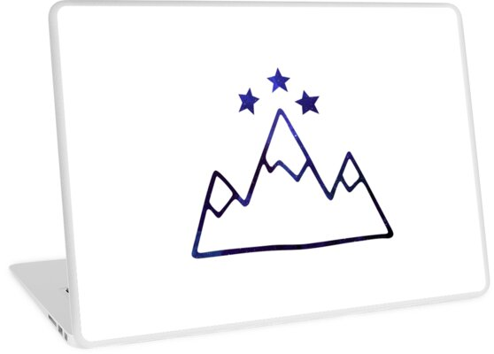 Night Court Symbol Mountains And Stars Laptop Skins By Angelina
