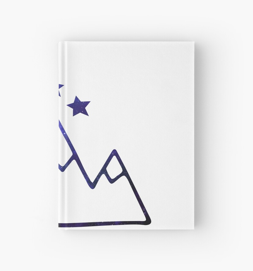 Night Court Symbol Mountains And Stars Hardcover Journals By