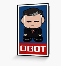 Romneybot Politico'bot Toy Robot 1.1 Greeting Card