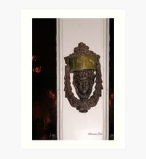 Knock, Knock ~ Who's There? Art Print
