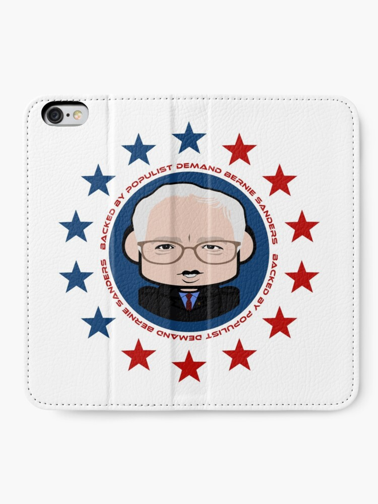 Alternate view of Backed by Populist Demand: Bernie'bot iPhone Wallet