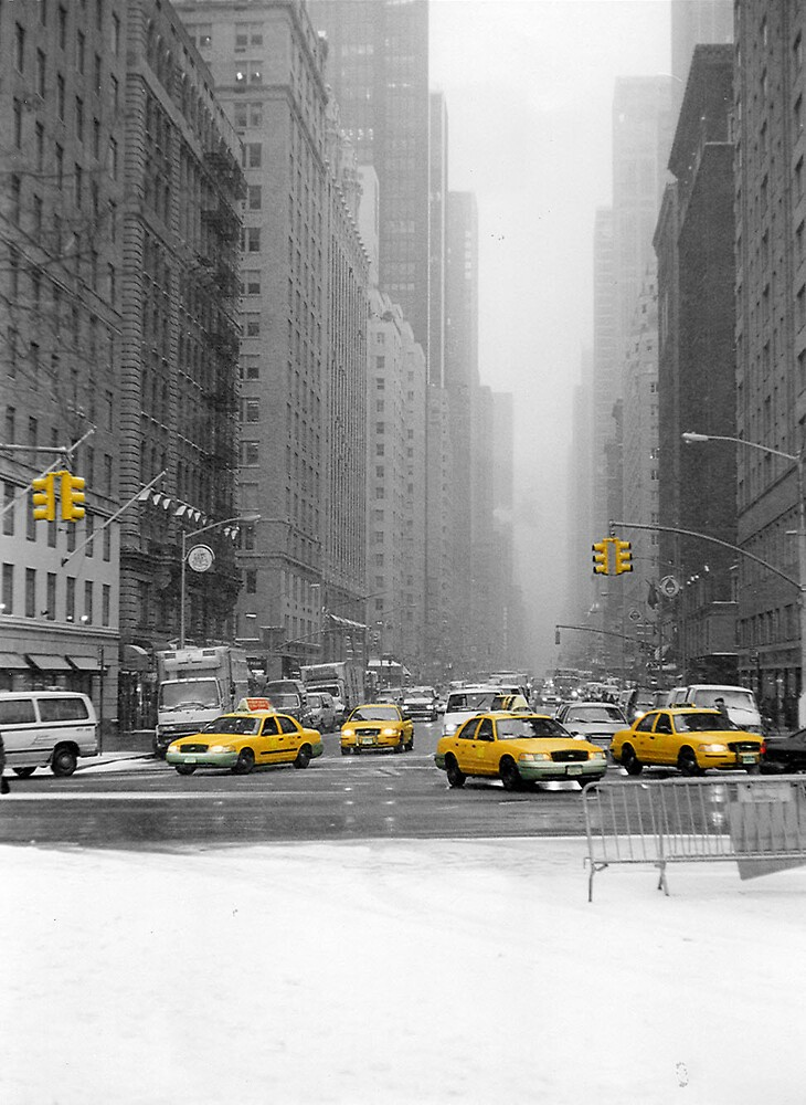 NYC Yellow Cabs by acky196