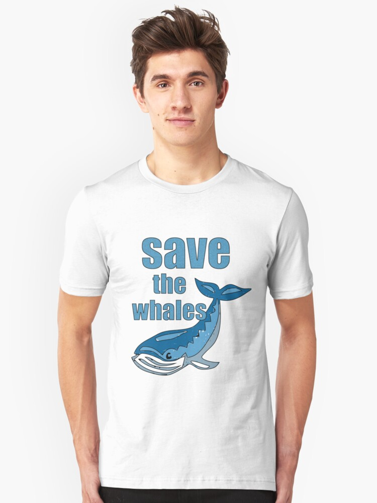 save the whales Unisex T-Shirt Front