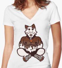 Pupcake! Vanilla Fudge Women's Fitted V-Neck T-Shirt