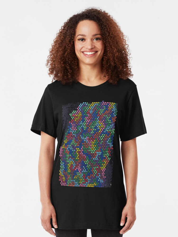 Alternate view of in rainbows Slim Fit T-Shirt