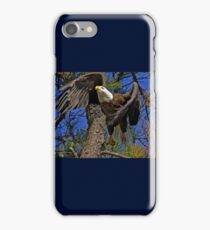 Bald Eagle takes flight iPhone Case/Skin
