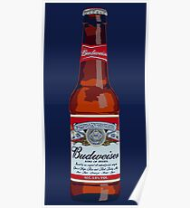 Budweiser Bottle Poster