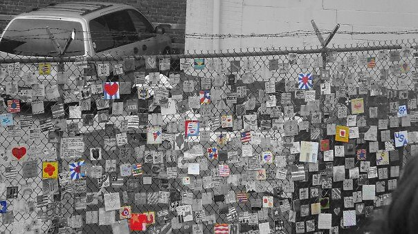 9/11 shrine made by school children by KimmyEvans
