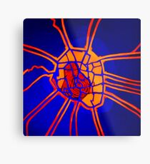 Cartography of the heart Metal Print