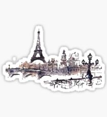 Paris - Watercolored Painting Sticker