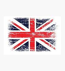 Vintage UK British Flag design Photographic Print