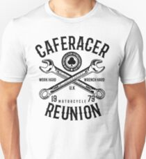 Cafe Racer Reunion Wrench Retro Vintage Distressed Design T-Shirt