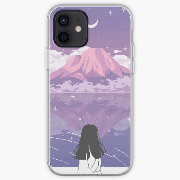 PIXEL 富士山 iPhone Soft Case