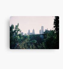 Philadelphia Skyline on 35mm Film Canvas Print
