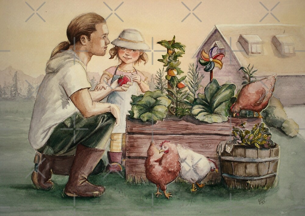 The Veggie Patch by Sarah  Mac Illustration